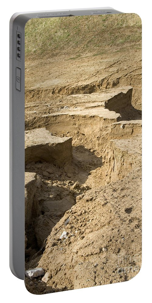 Erode Portable Battery Charger featuring the photograph Soil Erosion by Inga Spence