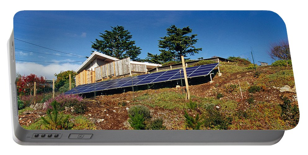 Solar Portable Battery Charger featuring the photograph Solar Panels by Inga Spence