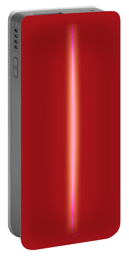 Slit Portable Battery Charger featuring the painting Some Like It Hot by Charles Stuart