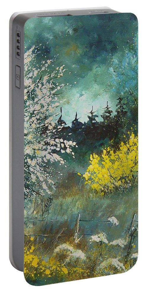 Spring Portable Battery Charger featuring the painting Spring by Pol Ledent