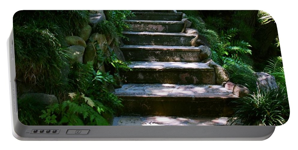 Nature Portable Battery Charger featuring the photograph Stone Steps by Dean Triolo