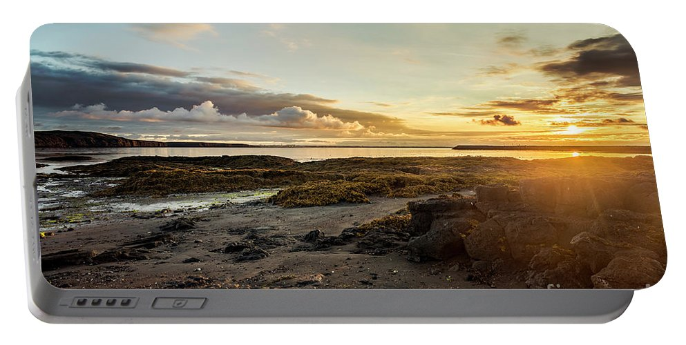 Sunset Portable Battery Charger featuring the photograph sunset Iceland by Gunnar Orn Arnason