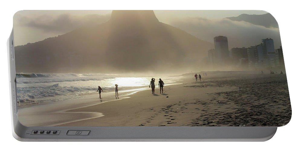 Rio De Janeiro Portable Battery Charger featuring the photograph Sunset In Rio De Janeiro by Mao Lopez
