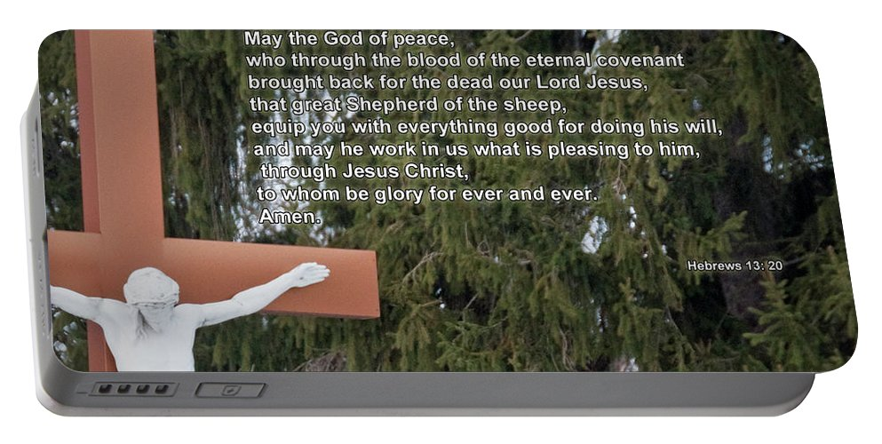 Easter Portable Battery Charger featuring the photograph The Cross by David Arment