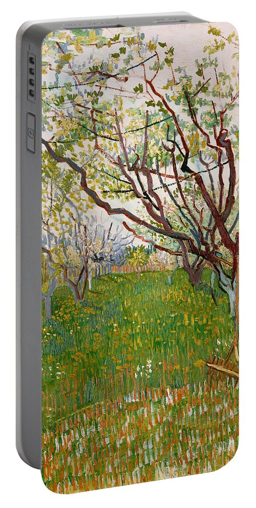 Dutch Portable Battery Charger featuring the painting The Flowering Orchard by Vincent van Gogh