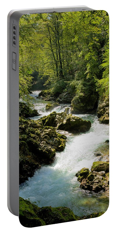 Vintgar Portable Battery Charger featuring the photograph The Vintgar Gorge by Ian Middleton