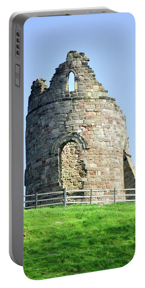 Grey Portable Battery Charger featuring the photograph Tutbury Castle Ruins by Rod Johnson