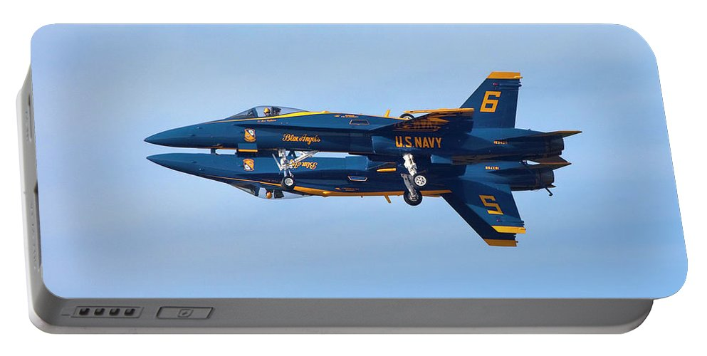Navy Portable Battery Charger featuring the photograph U S Navy Blue Angeles, Formation Flying by Bruce Beck