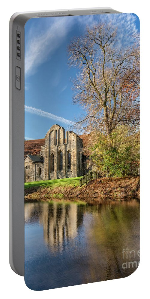 Valle Crucis Portable Battery Charger featuring the photograph Valle Crucis Abbey by Adrian Evans