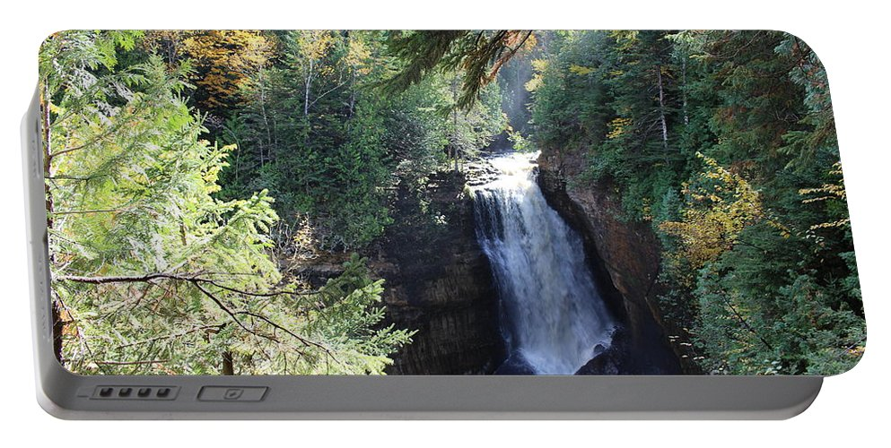Water Portable Battery Charger featuring the photograph Waterfall by Brenda Ackerman