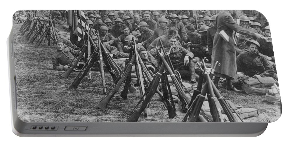 1919 Portable Battery Charger featuring the photograph World War I: U.s. Troops by Granger