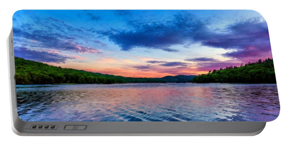 Original Portable Battery Charger featuring the digital art In The Landscape by Malinda Spaulding