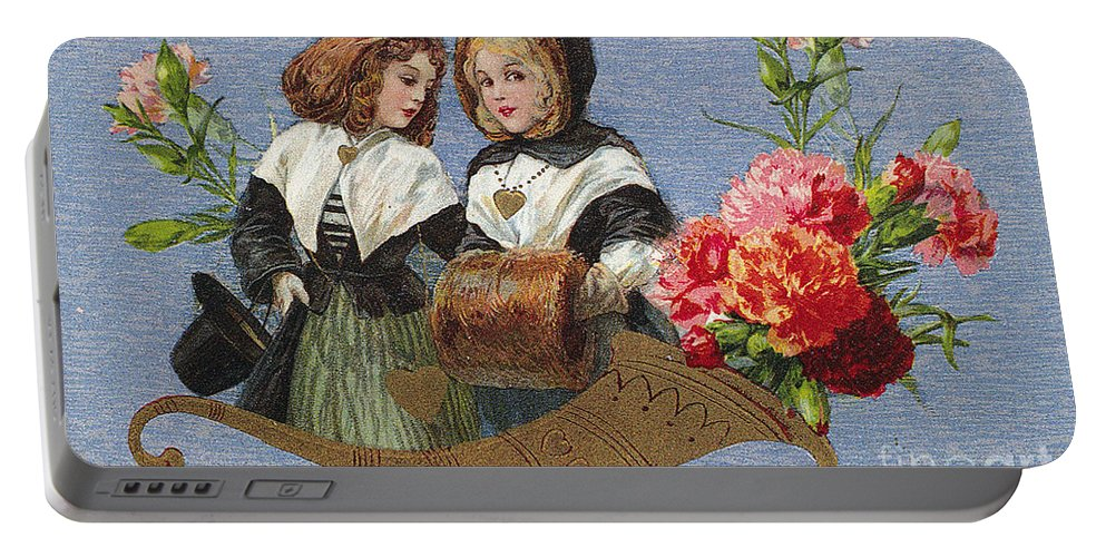1913 Portable Battery Charger featuring the photograph Valentines Day Card by Granger
