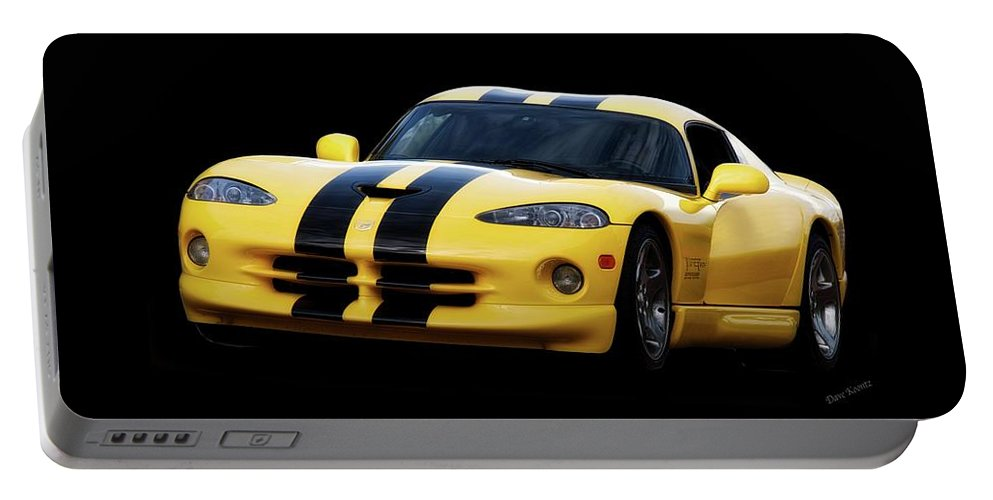 Auto Portable Battery Charger featuring the photograph 2001 Dodge Viper 'methenol Injected' by Dave Koontz