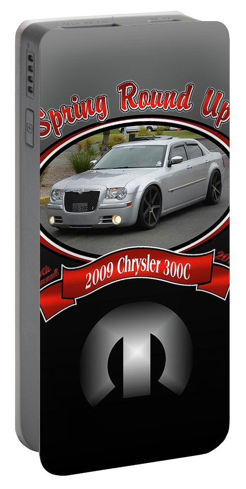 2009 Portable Battery Charger featuring the photograph 2009 Chrysler 300c Ackermann by Mobile Event Photo Car Show Photography