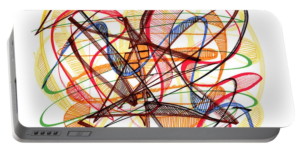 Abstract Art Portable Battery Charger featuring the drawing 2010 Abstract Drawing Fourteen by Lynne Taetzsch