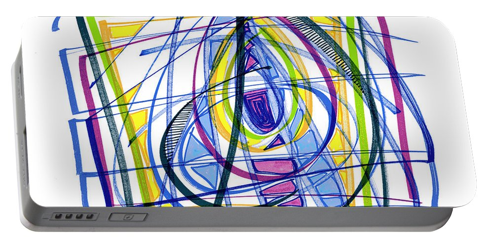 Abstract Art Portable Battery Charger featuring the drawing 2010 Abstract Drawing Nineteen by Lynne Taetzsch