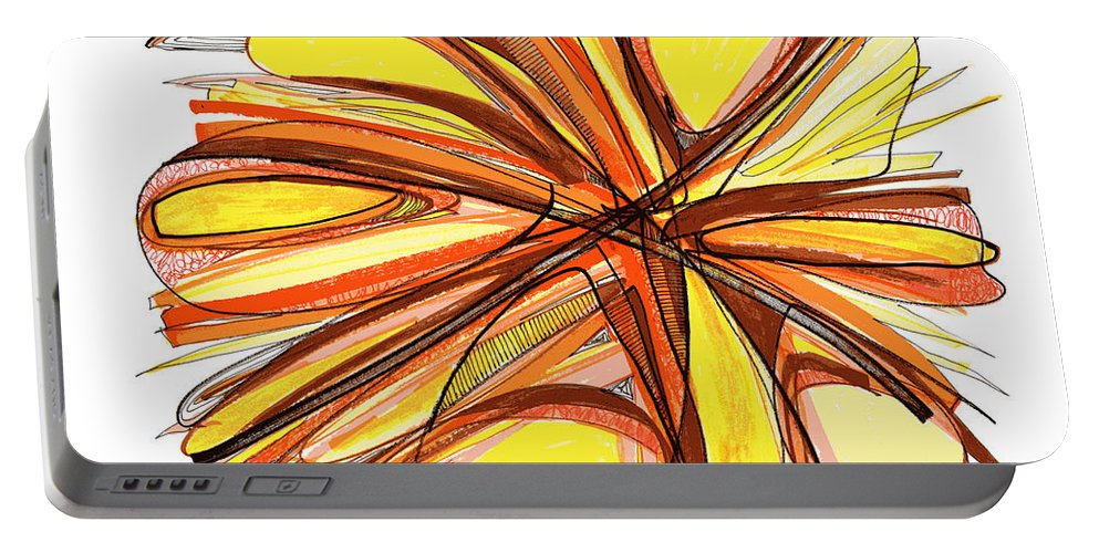 Abstract Art Portable Battery Charger featuring the drawing 2010 Abstract Drawing Thirteen by Lynne Taetzsch