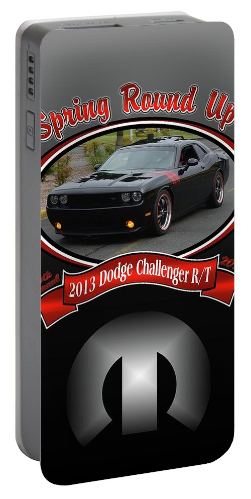 2013 Portable Battery Charger featuring the photograph 2013 Dodge Challenger Rt Wheeler by Mobile Event Photo Car Show Photography