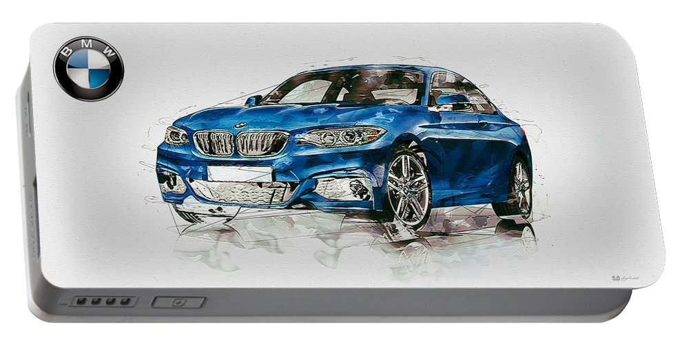 Wheels Of Fortune By Serge Averbukh Portable Battery Charger featuring the photograph 2014 B M W 2 Series Coupe With 3d Badge by Serge Averbukh