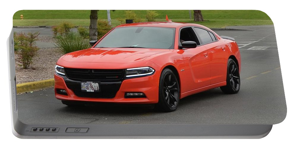 2016 Portable Battery Charger featuring the photograph 2016 Dodge Charger Rt Ragen by Mobile Event Photo Car Show Photography