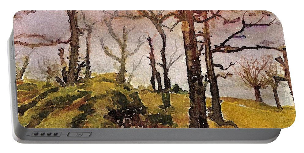 England Portable Battery Charger featuring the painting #20170221b by John Warren OAKES