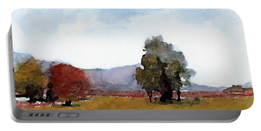 England Portable Battery Charger featuring the painting #20170221c by John Warren OAKES