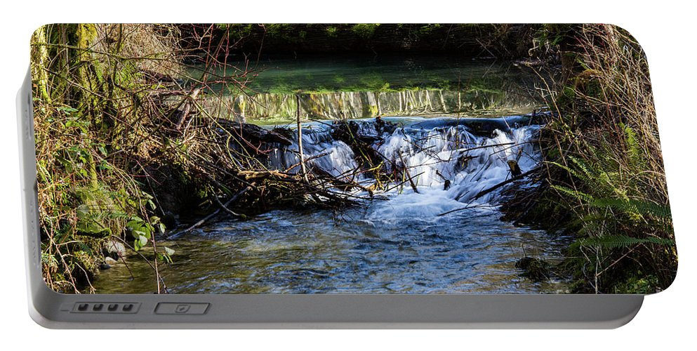 Stream Portable Battery Charger featuring the photograph 2018_2_12 Mountian Stream-4218 by Roger Patterson