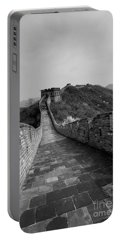 Mutianyu Valley Portable Battery Charger featuring the photograph The Mutianyu Section Of The Great Wall Of China, Mutianyu Valley by Dave Porter