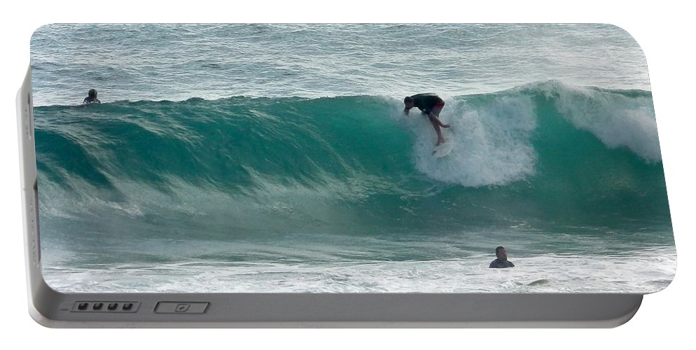 Australia Portable Battery Charger featuring the photograph Australia - The Surfer by Jeffrey Shaw