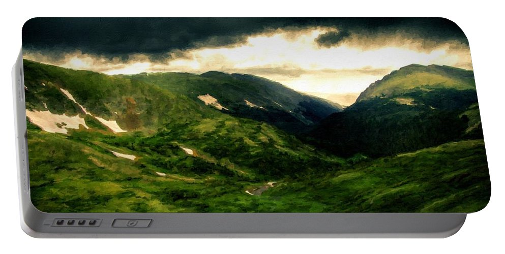 Landscape Portable Battery Charger featuring the digital art In The Landscape by Malinda Spaulding
