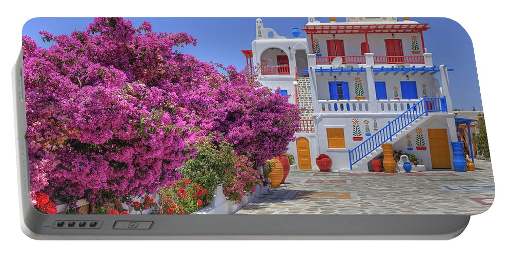 House Portable Battery Charger featuring the photograph Mykonos by Joana Kruse