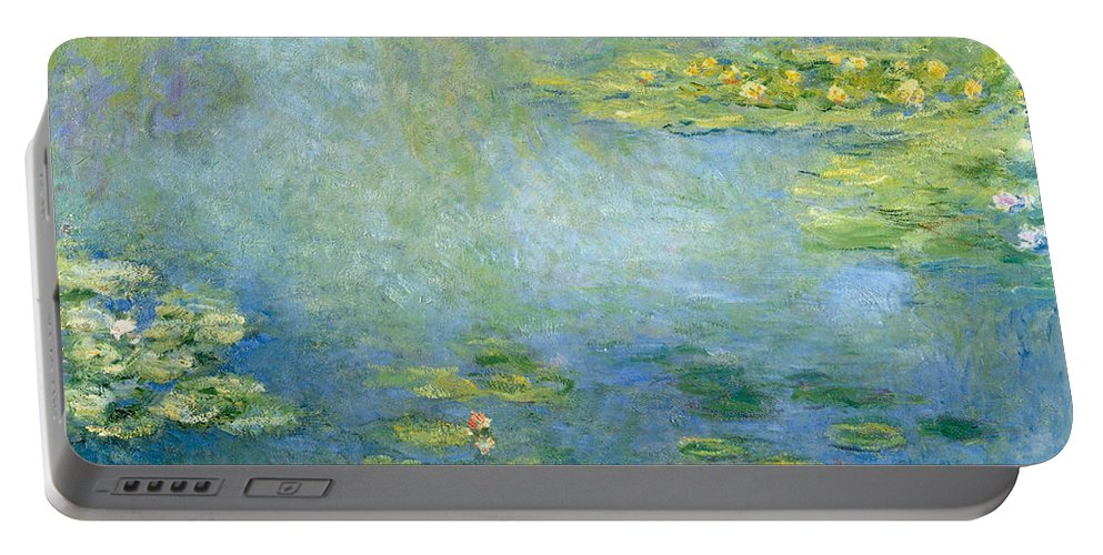 Claude Monet Portable Battery Charger featuring the painting Waterlilies by Claude Monet