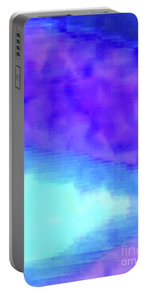 Walter Paul Bebirian Portable Battery Charger featuring the digital art 3-23-2015babcdefghijklmnop by Walter Paul Bebirian