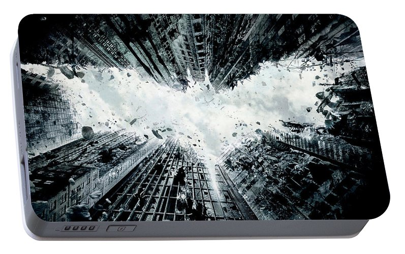 Batman Portable Battery Charger featuring the digital art The Dark Knight Rises 2012 23 by Geek N Rock