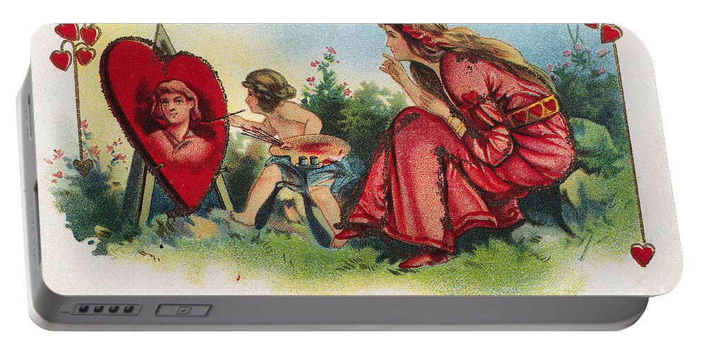 1917 Portable Battery Charger featuring the photograph Valentines Day Card by Granger