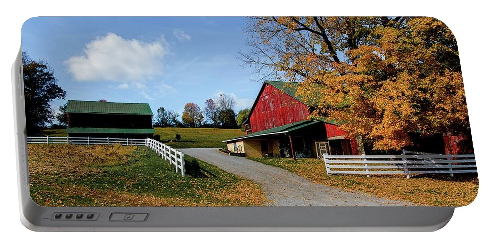 Farm Portable Battery Charger featuring the photograph 248 New Bedford Hillside by Dennis R Bean