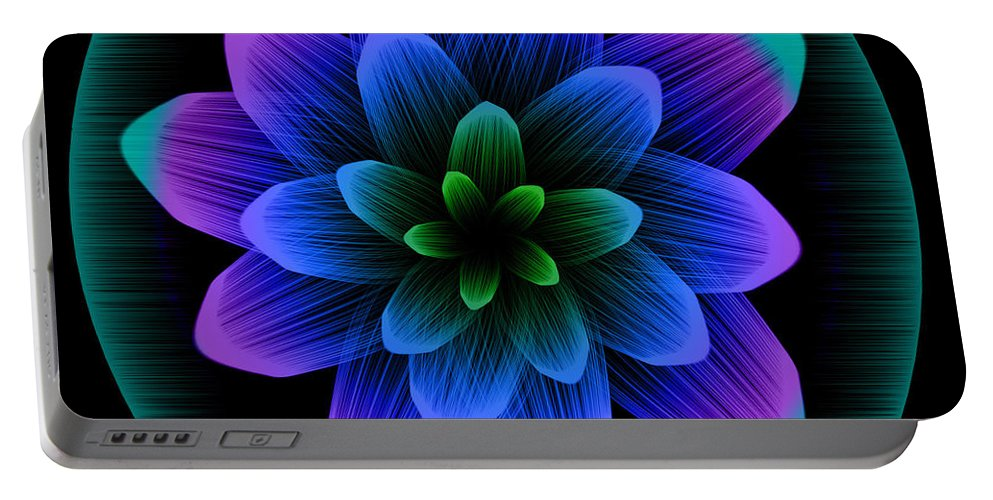Artistic Portable Battery Charger featuring the digital art Artistic by Dorothy Binder
