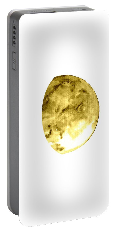 Moon Phase Wall Art Portable Battery Charger featuring the painting Moon Phase by Sweeping Girl