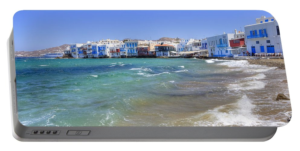 Mikri Venetia Portable Battery Charger featuring the photograph Mykonos by Joana Kruse