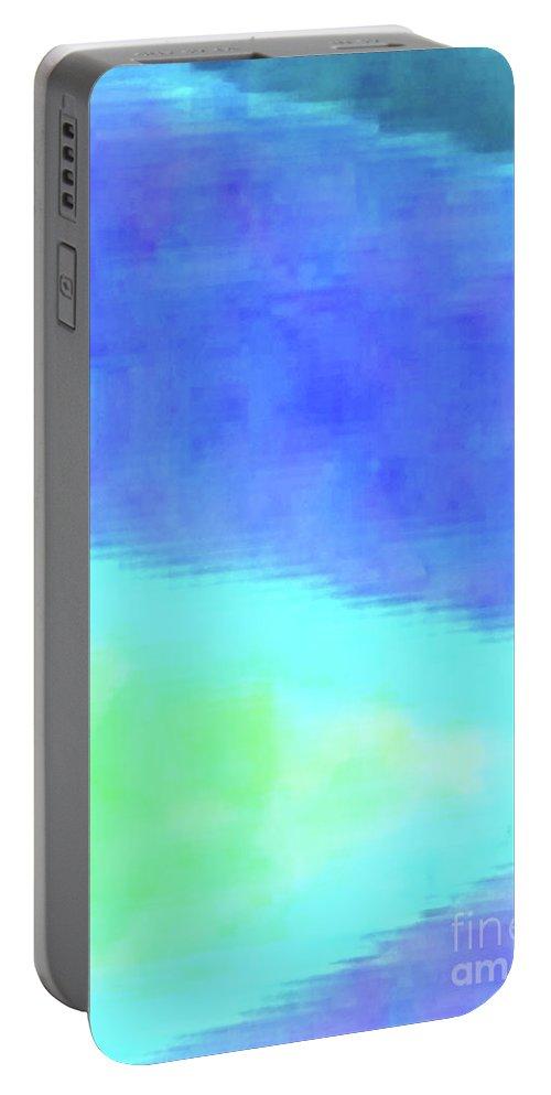 Walter Paul Bebirian Portable Battery Charger featuring the digital art 3-23-2015babcdefghijklmnopqrt by Walter Paul Bebirian