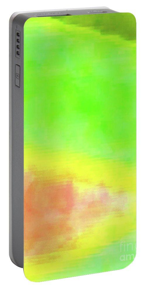 Walter Paul Bebirian Portable Battery Charger featuring the digital art 3-23-2015babcdefghijklmnopqrtuvwxyzabcdef by Walter Paul Bebirian