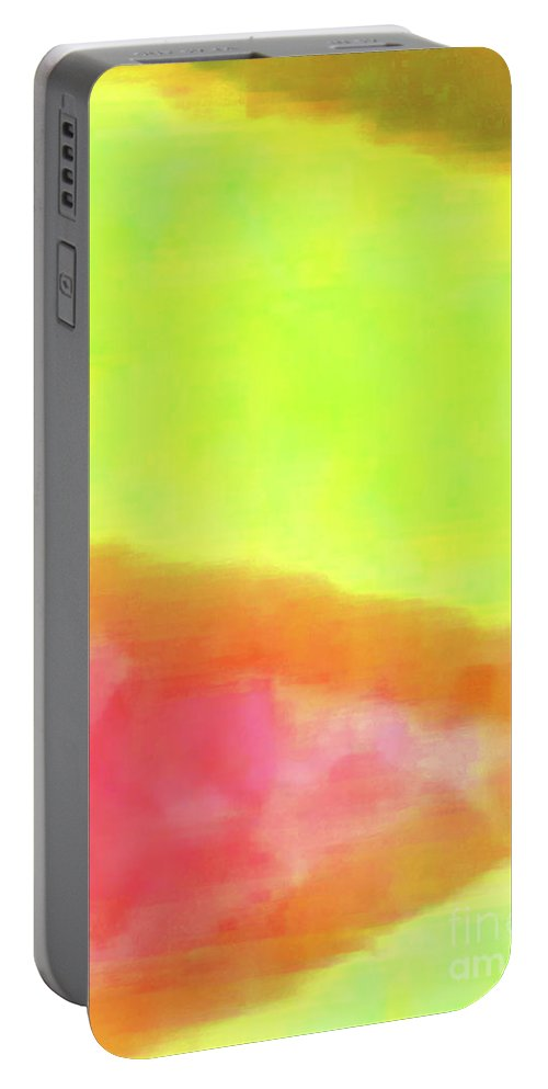 Walter Paul Bebirian Portable Battery Charger featuring the digital art 3-23-2015babcdefghijklmnopqrtuvwxyzabcdefghi by Walter Paul Bebirian