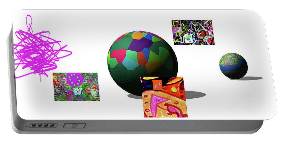 Walter Paul Bebirian Portable Battery Charger featuring the digital art 3-23-2015d by Walter Paul Bebirian