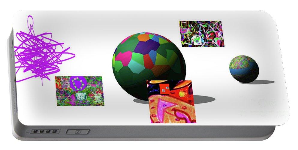 Walter Paul Bebirian Portable Battery Charger featuring the digital art 3-23-2015da by Walter Paul Bebirian