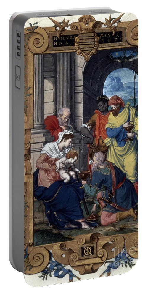 16th Century Portable Battery Charger featuring the photograph Adoration Of Magi by Granger