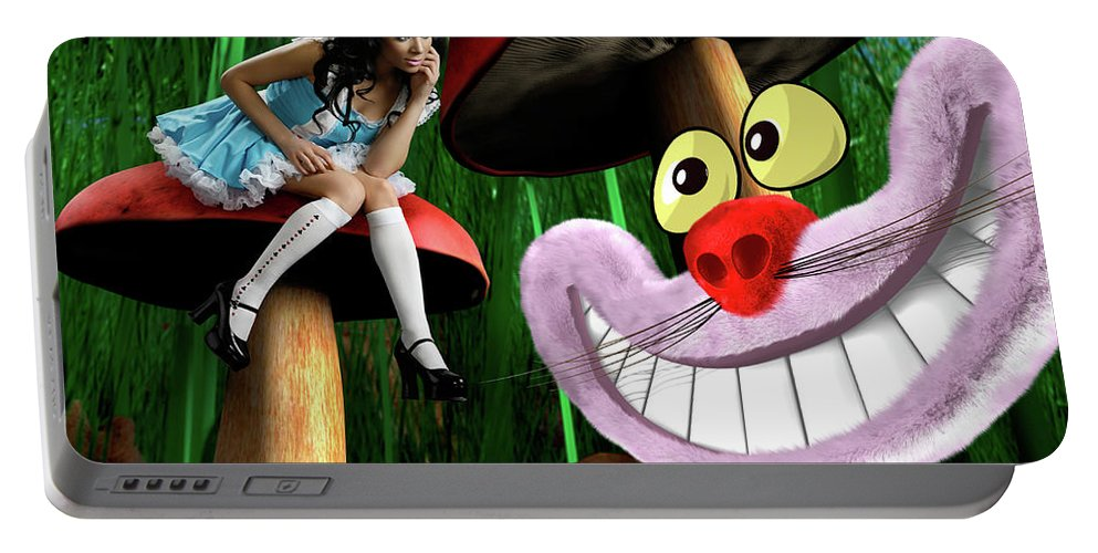 Alice Portable Battery Charger featuring the photograph Alice In Wonderland by Maxim Images Prints