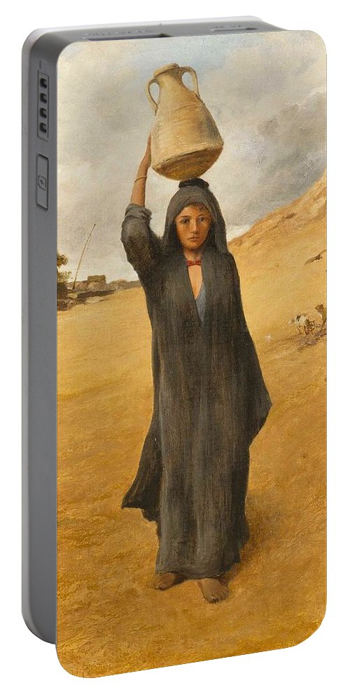 David Bates(british Portable Battery Charger featuring the painting An Arab Girl by David Bates