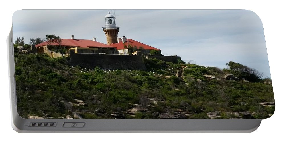 Australia Portable Battery Charger featuring the photograph Australia - Barrenjoey Lighthouse On Solid Rock by Jeffrey Shaw