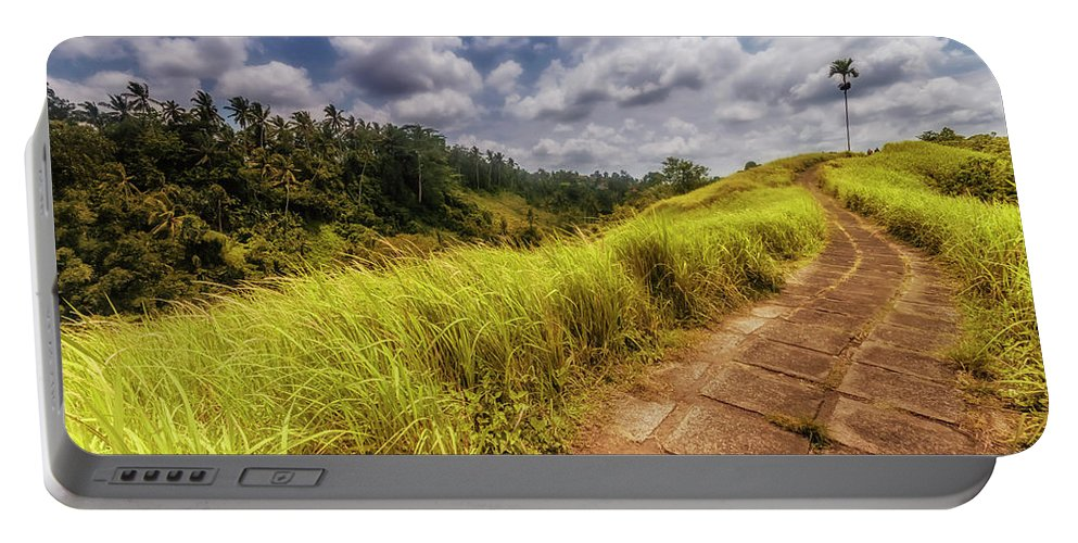 Mountain Portable Battery Charger featuring the photograph Bali Landscape by Jijo George